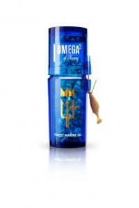 Norway Omega3 bottle blue